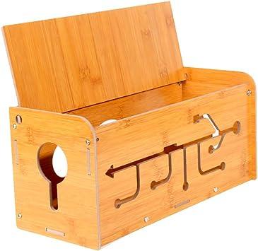 Caja de almacenamiento de madera para organizar cables: Amazon.es: Bricolaje y herramientas