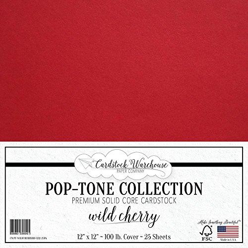 WILD CHERRY RED Cardstock 12