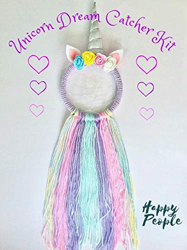Unicorn Dream Catcher Kit, Rainbow, Kids Craft, Gifts for girls from HappyPeople