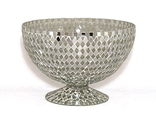 - Home Decoration Accessories Bowl Vase Mosaic Mirror and Clear Diamond Shaped Glass Pieces 8