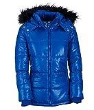 Aeropostale Womens Lightweight Hooded Puffer Jacket Blue XS - Juniors