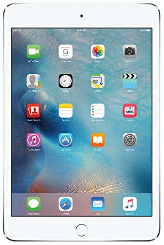 Apple iPad mini 4 (64GB, Wi-Fi + Cellular, Silver)