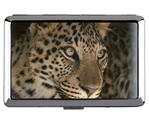 Cigarette Case Box,Leopard Leopard Metal Pocket Business Card Case (Best Live Stock Ticker)