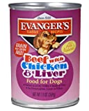 Cheap Evanger's Evanger's All Natural Canned Dog Food – Beef, Chicken, and Liver Beef, Chicken & Canned Food
