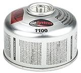 GoSystem Butane Propane Threaded Mix Gas Cartridge - Silver, 100 g