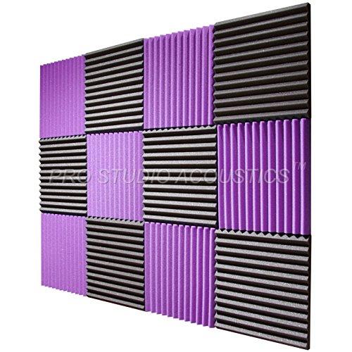 pro-studio-acoustics-12x12x1-acoustic-wedge-foam-absorption-soundproofing-tiles-12-pack-purple-charc