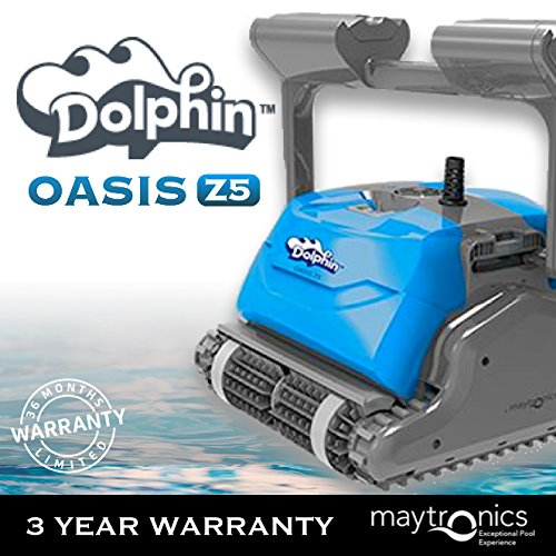 Tangle Free Floating - Dolphin Oasis Z5 Robotic Pool Cleaner with Caddy and Remote