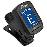 Rowin Clip-On Tuner for Guitar Bass Ukulele Chromatic Violin Included Battery Black