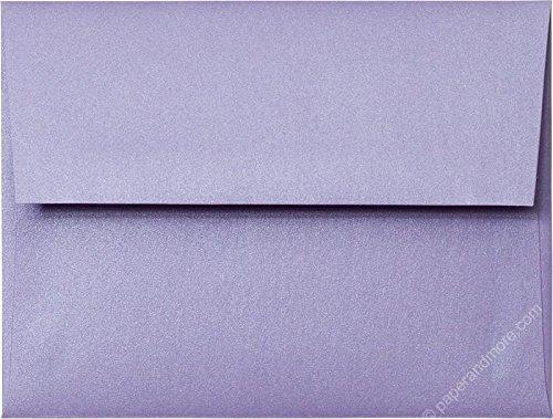 Lavender Shimmer - A-2 Lavender Metallic RSVP Envelopes (Straight Flap, (4 3/8