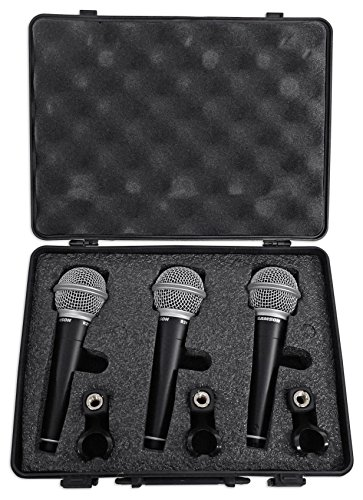 Samson R21 Dynamic Vocal Microphone - 3-Pack with - Dynamic Microphone Samson Vocal
