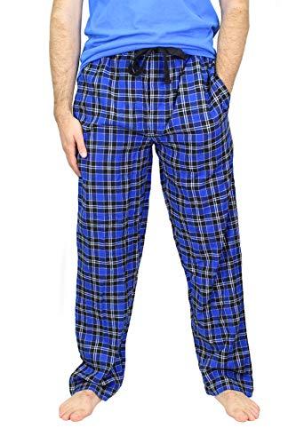 IZOD Men's Woven Flannel Sleep Pant, Blue/Navy Plaid, - Flannel Izod