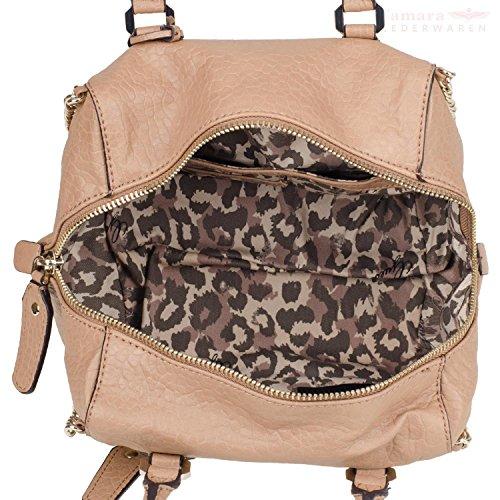 Guess - Bolso de asas para mujer Negro leopardo small