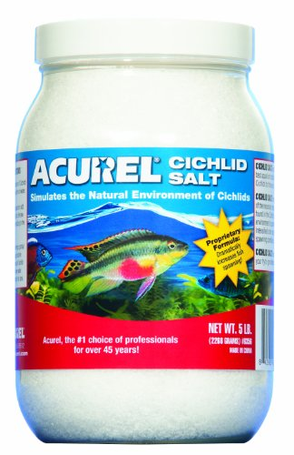 - Acurel LLC African Cichlid Salt, Aquarium and Pond Water Treatment, 5-Pound