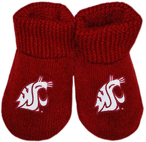 Washington State University Cougars Newborn Baby Bootie Sock, Crimson, Newborn]()