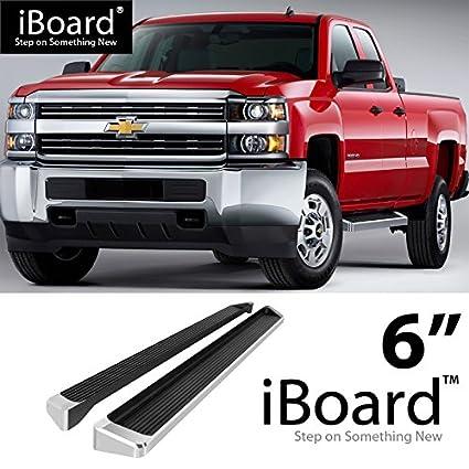 """6/"""" Black eBoard Running Boards Fit Chevy Silverado//GMC Sierra Crew Cab 07-18"""