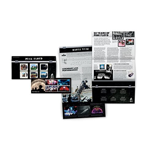 Pink Floyd Presentation Pack - Six Album Covers and Miniature Sheet Collectible Postage Stamps Royal Mail by Royal Mail