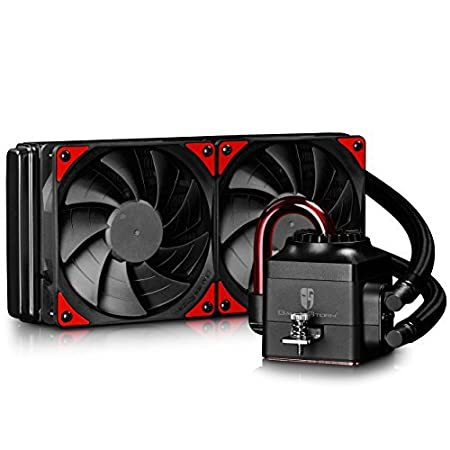 Deepcool Captain 240ex Aio Liquid Cpu Cooler Radiator Dual 120 Mm Black Pwm Fans Am4 Compatible Amazon In Computers Accessories
