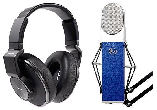 Blue Blueberry Condenser Studio Recording Microphone w/Shockmount+AKG (Blue Blueberry Microphone Cable)