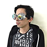 Sparkling Kaleidoscope Goggles for Parties & Events (Silver)