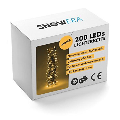 SnowEra 200 LED Außenlichterkette, amber