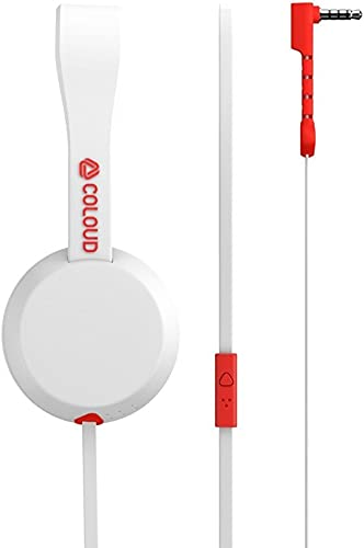 Coloud Knock On-Ear Headphones, White Red 4090649