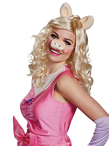Miss Piggy Costume Women (Miss Piggy Adult Wig, Ears & Nose Set)