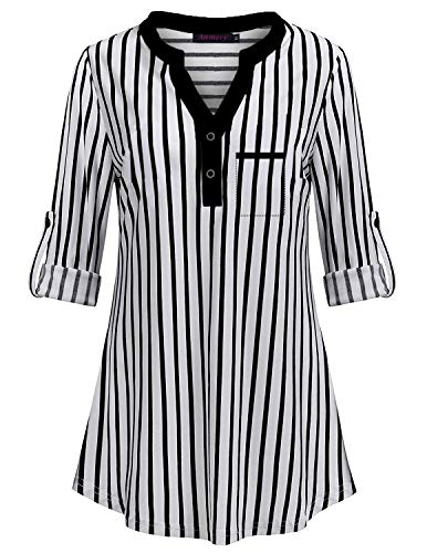 0f0a5ab9837c04 Anmery Stripe Blouse Women,Ladies Henley V Neck Flowy Blouses Fashion 2018  Maternity 3/