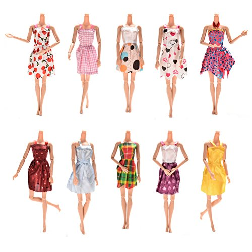 Buytra 10pcs Handmade Gorgeous 11 Barbie Doll Party Clothes Dress