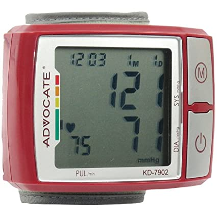 Amazon.com: Q3IKD7902 - ADVOCATE KD-7902 Wrist Blood Pressure Monitor with Color Indicator: Industrial & Scientific