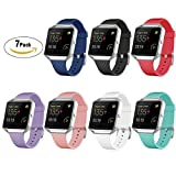 For Fitbit Blaze Slim Bands 7 Pack, GHIJKL TPU Replacement Sport Strap for Fitbit Blaze Smart Fitness Watch, Large Small