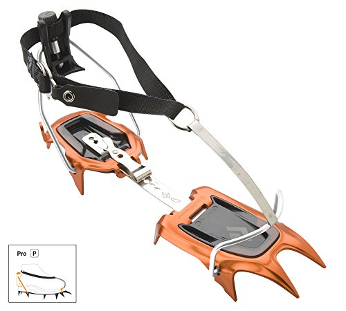 Black Diamond Neve Crampons BD Orange Pro and HDO Lite E-tip Gloves with Grippers