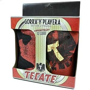 Tecate Beer Bottle Opener Hat Cap Gorra Playera XL XLarge T Shirt 2 Piece Set
