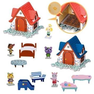 Nintendo Animal Crossing House U0026 Furniture Figure Play Set Of 5