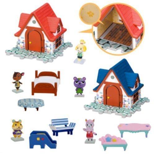 Amazon.com: Nintendo Animal Crossing House U0026 Furniture Figure Play Set Of  5: Toys U0026 Games