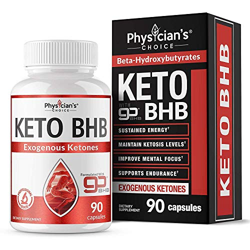 Exogenous Ketones goBHB Keto Salts: Keto Pills, Sustained Energy - No Crash or Jitters Maintain Ketosis Levels, Improve Mental Focus, Supports Endurance, 90 Keto Pills