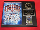 2016 Cubs World Series Champions Collectors Clock Plaque w/8x10 Photo and Card