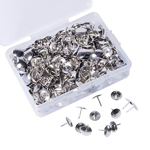 BAZIC Silver Thumb Tacks 200 Push Pins for Crafts and Office Organization 1