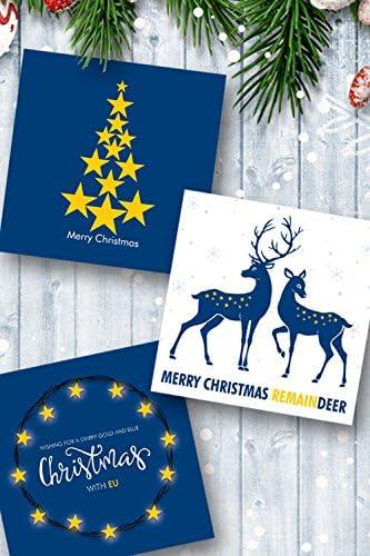 Pack de 10 surtidos Pro UE tarjetas de Navidad: Amazon.es: Oficina y papelería