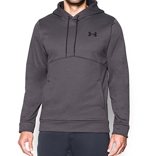 Under Armour Men's Storm Armour Fleece Hoodie, Carbon Heather/Black, Small