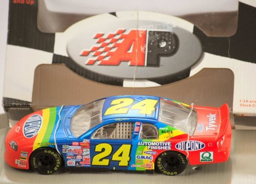 1999 - Action / Action Premiums - NASCAR - Jeff Gordon #24 - Du Pont Chevy Monte Carlo - 1:24 Scale Diecast Metal Stock Car - Limited Edition - Collectible - OOP - 24 Scale Stock Car