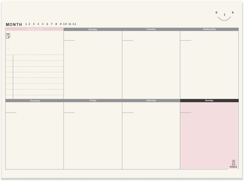 Meetory A4 Weekly Planner Notepad, Desktop Planning Pad with to Do List 7 Daily Schedule -11.4 x 8.3 Inch, 60 Sheets