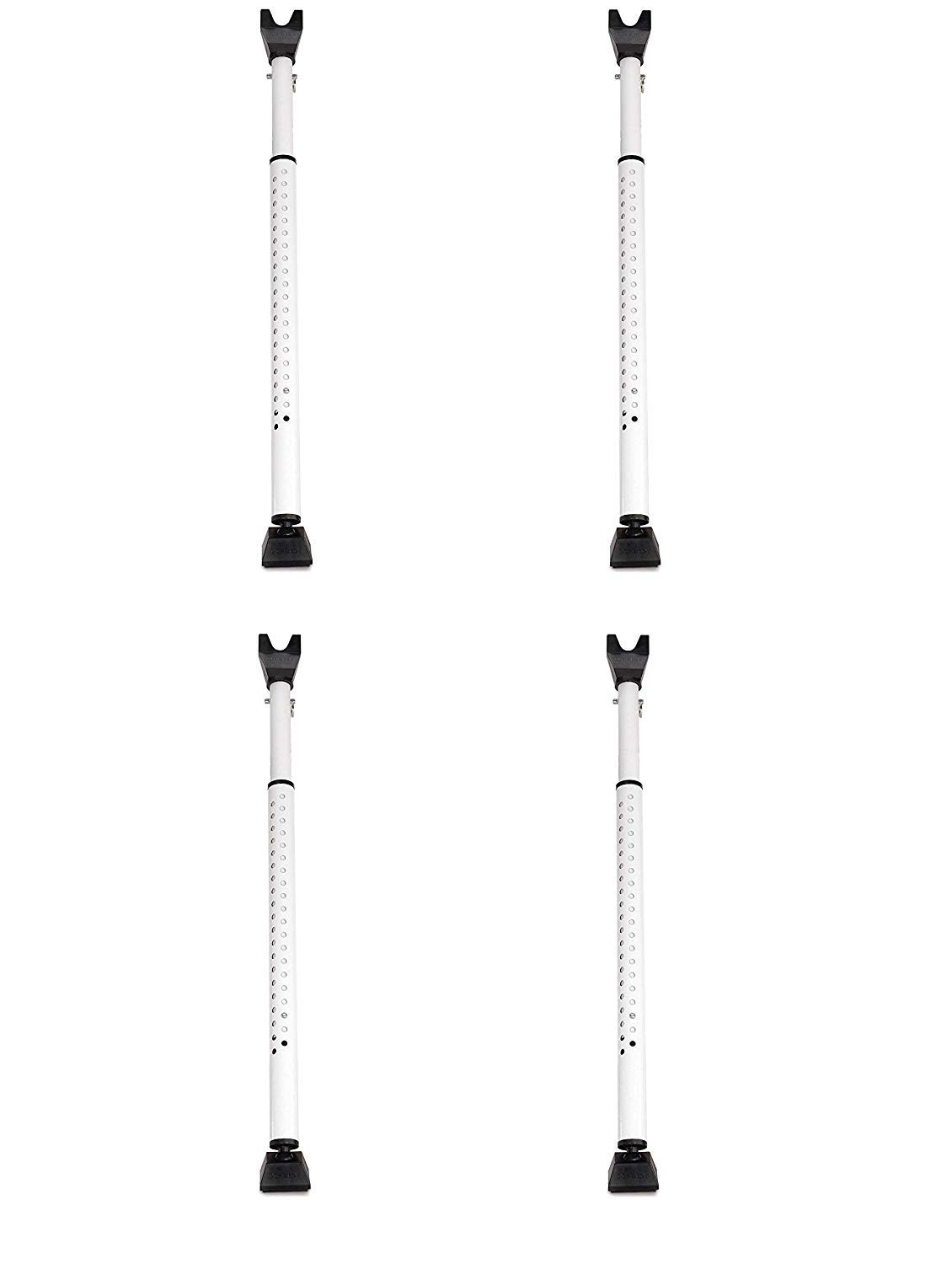 Master Lock 265D Door Security Bar, Adjustable from 27-1/2 in. to 44-1/2 in, White, (Pack of 4)