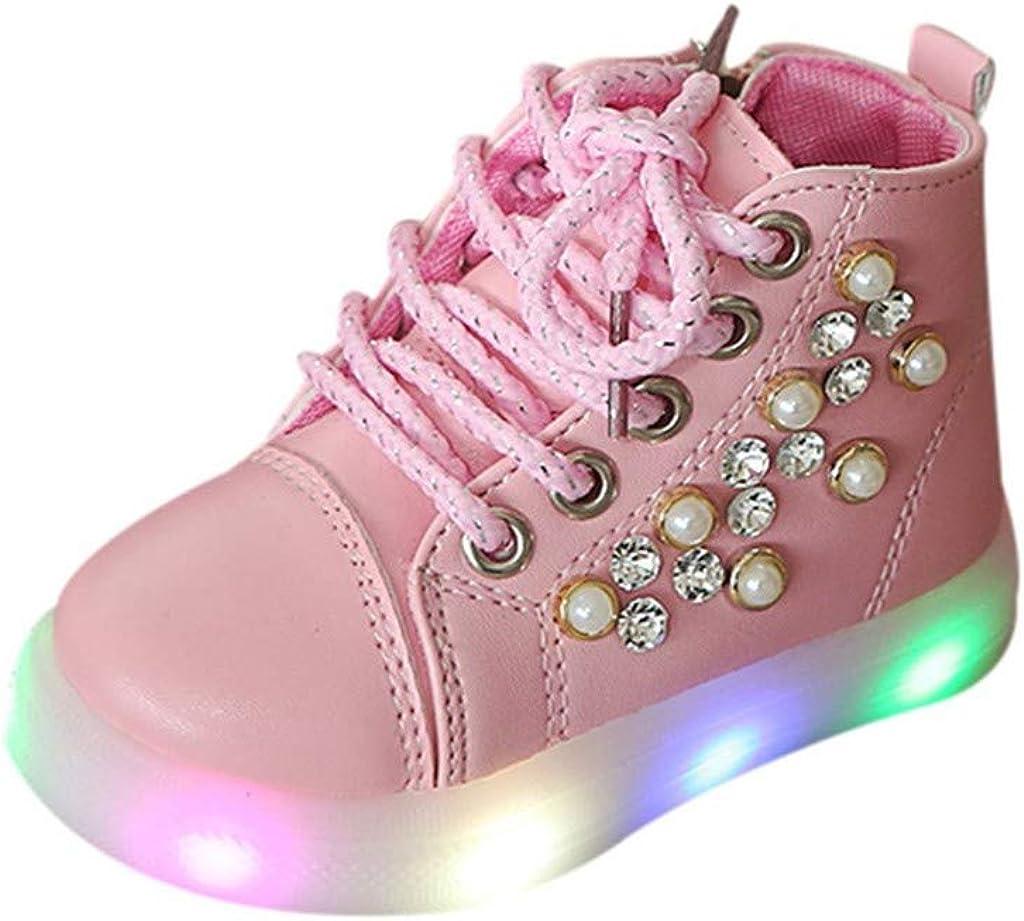 Children Baby Kids Fashion Star Sneaker LED Luminous Child Toddler Casual Light Shoes