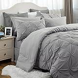 Bedsure Comforter Set Queen/Full Bed in A Bag Grey