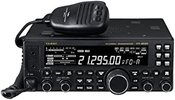 Yaesu Original FT-450D HF 50MHz Compact Amateur Base Transceiver – 100 Watts, IF DSP Technology