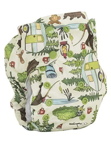 No Prep Organic Cloth Diaper - Smart Bottoms Dream Diaper 2.0 - Washable, Reusable - Natural Fiber Interior (Campfire Trails)