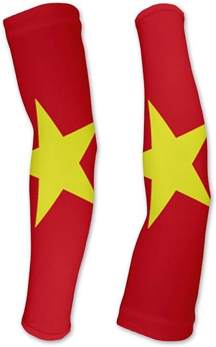 Amazon Com Vietnam Flag Compression Arm Sleeves Uv Protection Unisex Walking Cycling Running Golf Baseball Basketball Clothing