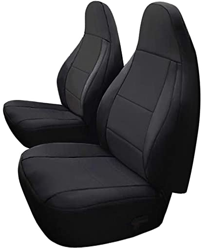 Leader Accessories Black Car Front Seat Covers Custom Fit For Jeep Wrangler  1997 2002 TJ