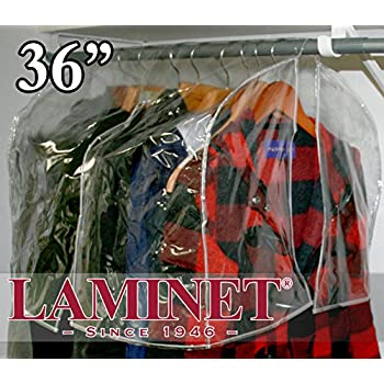 Amazon Com Laminet C36 Clear 36 Quot Shoulder Coverette Protect Your Clothes From Dust And Contaminants Plastic Closet Rod Cover Home Amp Kitchen