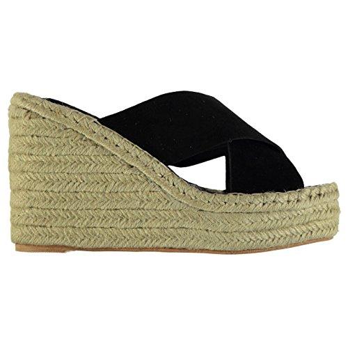 Jeffrey Campbell Mujer Calzado Acolchado Zapatos Verano Casual Plataforma Wedges Black